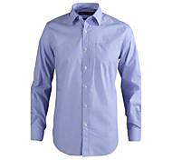 JamesEarl Men's Shirt Collar Long Sleeve Shirt & Blouse Blue - MC1ZC001805