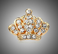 MISSING U Women's Zircon Crown Brooch