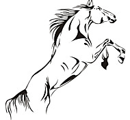 Wall Stickers Wall Decals Style Fine Horse PVC Wall Stickers