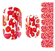Fashion Beautiful Red Maple Leaf Nail Decal Art Sticker Gel Polish Manicure