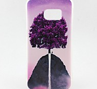 Purple Tree Pattern TPU Soft Case for Galaxy S7 Edge/Galaxy S7/Galaxy S6