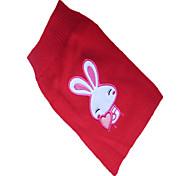Chien Pull Rouge Vêtements pour Chien Hiver Brodée