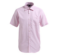 JamesEarl Men's Shirt Collar Short Sleeve Shirt & Blouse Pink - M21X5000302