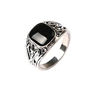 Hot Sales Vintage Jewelry Men's Square Exaggeration Statement Ring