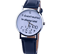 New Leather Strap Watch Women Watch It Doesn't Matter Watch Ladies Quartz Watch Relogio Feminino