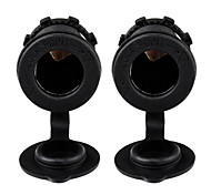 2X Waterproof Motorbike Car Cigarette Lighter Socket Plug Power Outlet