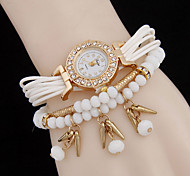 Women's Rivet Acrylic Beads Pendant ChainWomen Alloy Diamond Fashion Watch Cool Watches Unique Watches