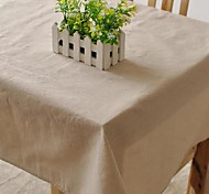 Square Patterned Table Cloth , Linen / Cotton Blend Material Table Decoration