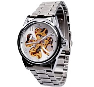 Men's Watch Automatic self-winding Fashion Watch Hollow Engraving Alloy Band Wrist watch Cool Watch Unique Watch