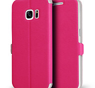 For Meizu Case with Windows / Flip Case Full Body Case Solid Color Hard PU Leather Meizu