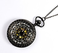 Unisex Pocket Watch Classic Hollow Cobweb Quartz Flip Pocket Watch Cool Watches Unique Watches