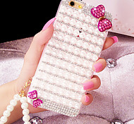 For iPhone 6 Case / iPhone 6 Plus Case Rhinestone Case Back Cover Case 3D Cartoon Soft Silicone iPhone 6s Plus/6 Plus / iPhone 6s/6