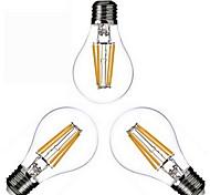 3 шт. Kwb e26 / e27 4w 4 cob 400 lm теплый белый a60 (a19) Эдисон урожай светодиодные лампы накаливания переменного тока 110-130 / ac 220-240 v
