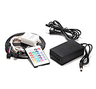 5M 60×2835SMD RGB LED Waterproof Strip Light and 24Key Remote Controller and 12V Power Supply