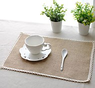 "6pcs Placemats Pack Linen Fabric Washable Fashion Pattern 27.5"" by 13"""