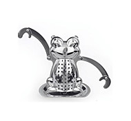Cartoon Frog Shape Tea Strainer Tea Infuser with Mini Plate Stainless Steel