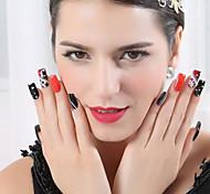 rosa de metal etiqueta engomada del pvc hermosa joyería de uñas
