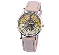 New Fashion Watch North Star Pattern For Ladies Women Men Casual Watch Leather Dress Watch Elegant Wristwatch