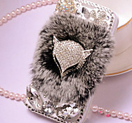 Luxury Simulation Fur Surface Back Cover for Samsung Galaxy S4