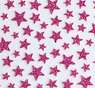 Lovely Red Western Style Star 3D Nail Stickers
