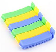 6pcs del color del caramelo utensilios de cocina fresca de sellado de alimentos clip de familia se mantengan esencial la innovación