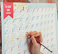 Superdeal 100 Day Countdown Calendar Learning Schedule Periodic Planner Table Gift For Kids Study Planning