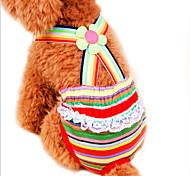 Коты / Собаки Брюки Красный Одежда для собак Весна/осень Полоски Свадьба / Косплей