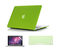 "3 in 1 Quicksand Matte Case  with Keyboard Cover and Screen Protector  for  MacBook Pro 13""/15''"