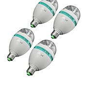 3W E26/E27 LEDBühnenleuchten A80 3 High Power LED 300 lm RGB Dekorativ AC 85-265 V 4 Stück