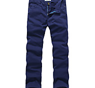 Lesmart Hommes Droite Pantalon Bleu / Vert - LX13029