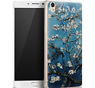 3D Relief Graphic Pattern Fashion Silicone Material Back Cover for OPPO R9