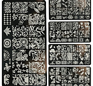 1PC Nail Art DIY Metal Printing Plates Flowers, Forest-BC11-20