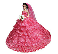 Barbie Doll Wine Red Party & Evening Organza / Lace Dresses Dresses
