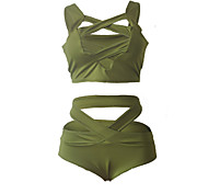 Chest Strap Cross Straps Split Swimsuit Beach