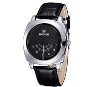 SKONE® Unique Vogue Designer SKONE® Brand Watches Men Luxury Fashion Casual Leather Strap Watch Quartz Wrtistwatch