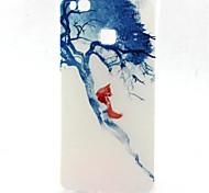 modelo azul árbol de la caja del teléfono material de TPU para Huawei p8 Lite / P9 Lite / g8