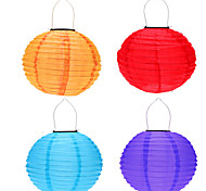 """4pcs 12 """"movido a energia solar levou luz chinese iluminação lâmpada pendurada lanterna para pátio do jardim"""