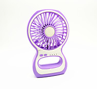 Strong Wind Mini Portable USB Fans with Rechargeable Battery & Lamp(Assorted Colors)