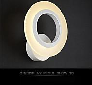 acrílico moderna de interior llevó la luz de la pared de forma redonda luces del pasillo de la lámpara de cabecera ac85-265v