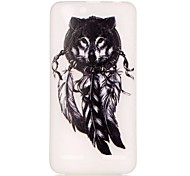 For Lenovo Case Glow in the Dark Case Back Cover Case Feathers Soft TPU Lenovo