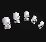 Lovely Mental Bow Nail Jewelry (at Least 10Pcs)