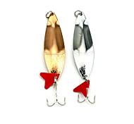 """5pcs pcs Cucharas / Cebo metálico Colores Aleatorios 26G g/1 Onza,85mm mm/3-5/16"""" pulgada,Metal / PlumaPesca de Mar / Pesca de agua dulce"""