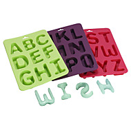 3Pcs Silicone Alphabet Letter Ice Cube Maker Mold Fondant Cookie chocolate Pastry Mould