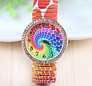 Woman's Colorful Diamond Strap Watch