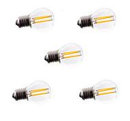 5 pezzi HRY E26/E27 4 LED ad alta intesità 400LM LM Bianco caldo / Luce fredda A60(A19) edison Vintage Lampadine LED a incandescenzaAC
