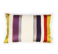 Colorful Striped Satin  Cushion Cover