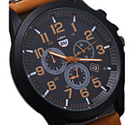 Men's Luxury Watches Liandu Style Brand Sports Watches 2015 Quartz Watch Casual Military Waterproof Leather Watch Wrist Watch Cool Watch Unique Watch