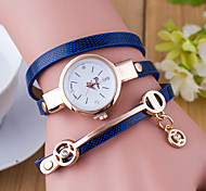 Women's Sport Watch Dress Watch Fashion Watch Wrist watch Large Dial Quartz Leather Band Charm Multi-Colored