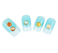 Lovely Candy Colored Jelly Stone/Natural Nail Stone/Round Opal Nail Jewelry (2PCS,10/PCS)