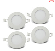4pcs 3W Round NON-dimmable LED Panel light 2800-6500K SMD 2835 Epistar chip AC85-265V for home